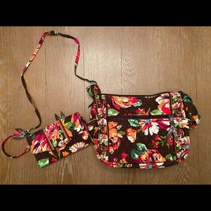 Vera Bradley Brown and Multi Crossbody and Wallet